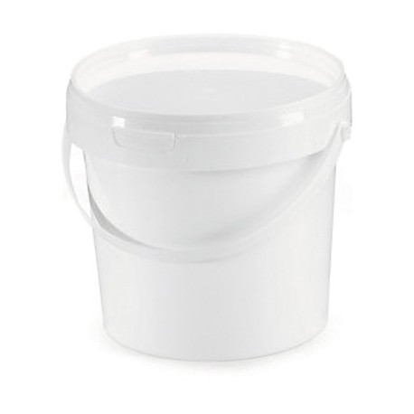 Opaque white bucket 5,6l