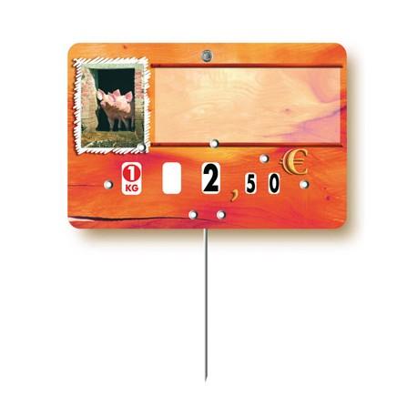 Market stall label pig