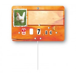 Market stall label poultry