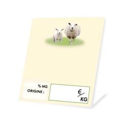 Cheese market stall label ewe