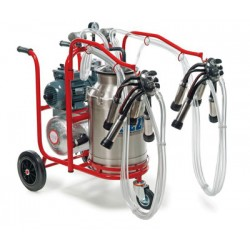 Electric milking trolley bovine