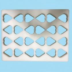 Heart-shaped mould plate