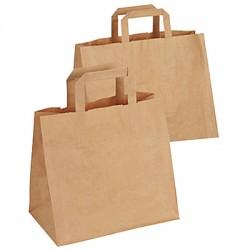 Flat handles paper bag / 50
