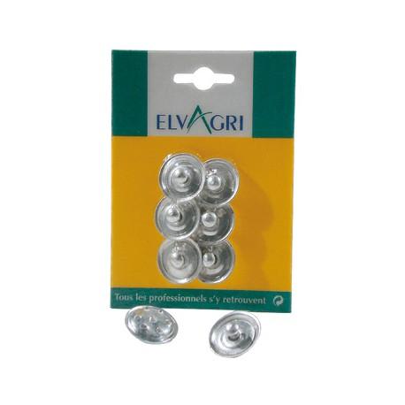Metal valve for nipples