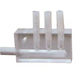 Derivador de plástico para alimentador - 3 vias