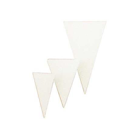 Neutral market stall label triangle 6x3cm (100)