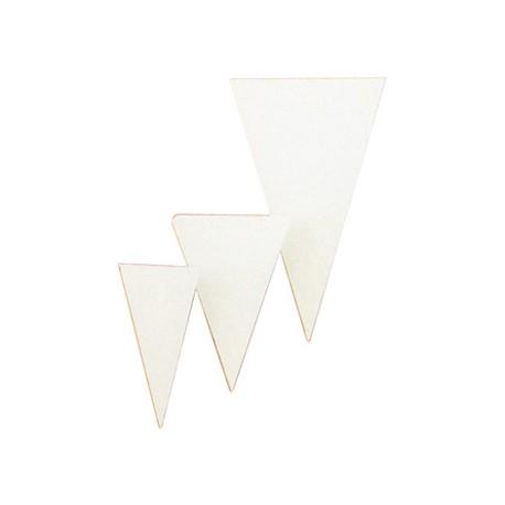 Neutral market stall label triangle 6x10cm (100)