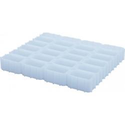 Multimolde para 24 quesos (6x4) de forma rectangular 60x120 mm