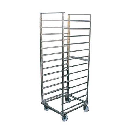 Stainless steel sliding trolley