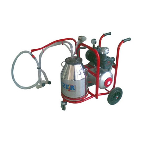 Milking trolley goat - 1 pot/1 cluster