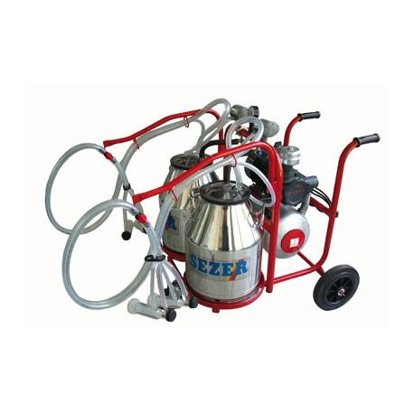 Milking trolley goat - 2 pots/2 clusters