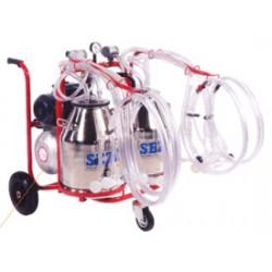 Milking trolley goat - 2 pots/4 clusters