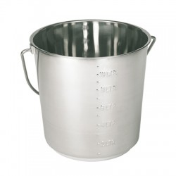 Stainless steel bucket 12.3l