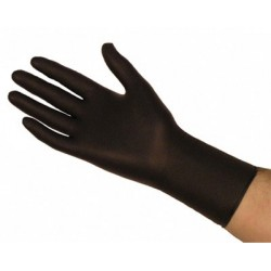 Long black gloves nitrile (