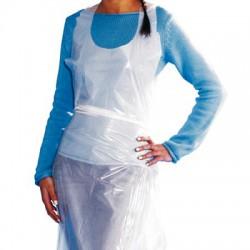 Disposable white apron