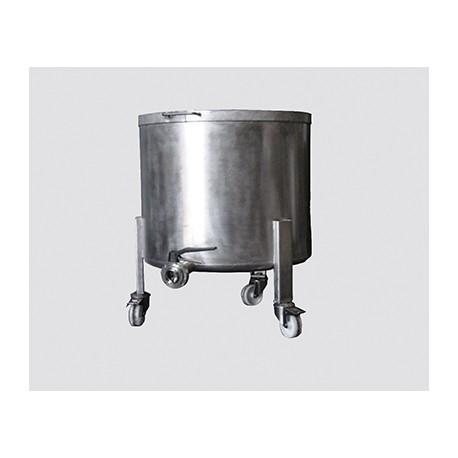 Stainless steel cauldron 300l with wheels