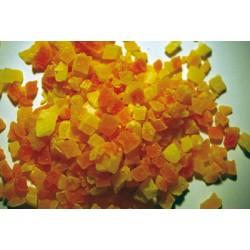 Cubos de papaya