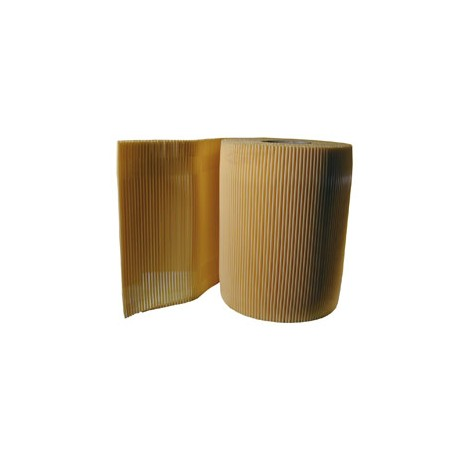 Straw roll 33 cm beige