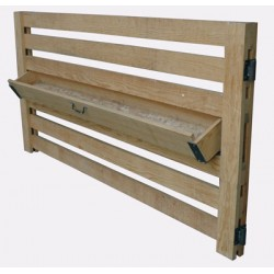 Panel comedero madera basculante