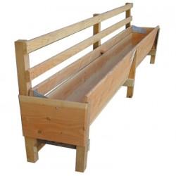 Comedero de madera 3m con barras